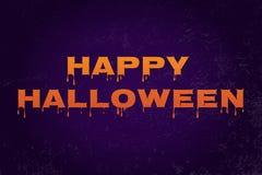 Tipografía del vector del feliz Halloween Fotos de archivo libres de regalías