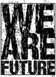 Tipografía del vector somos futuros Imagenes de archivo