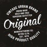 Tipografía del vintage para la impresión de la camiseta Gráficos superiores de la camiseta del vintage stock de ilustración