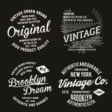 Tipografía del vintage para la impresión de la camiseta Gráficos superiores de la camiseta del vintage fijados ilustración del vector