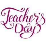 Tipografía feliz del día de los profesores Diseño de letras para la tarjeta de felicitación stock de ilustración