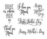 Tipografía feliz del día de madres Fotos de archivo