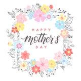 Tipografía feliz del día de madres Fotografía de archivo