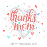 Tipografía feliz del día de madres Imagenes de archivo