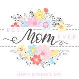 Tipografía feliz del día de madres Imagen de archivo libre de regalías