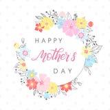 Tipografía feliz del día de madres Foto de archivo