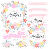 Tipografía feliz del día de madres Fotos de archivo libres de regalías