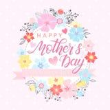 Tipografía feliz del día de madres Imagen de archivo