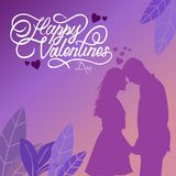 Tipografía feliz del día de San Valentín con los ejemplos libre illustration