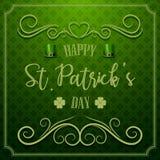 Tipografía feliz del día del ` s de St Patrick ilustración del vector