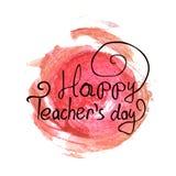 Tipografía feliz del vector del día de los profesores fotografía de archivo libre de regalías