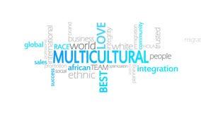 Tipografía multicultural, animada ilustración del vector