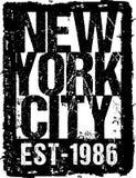 Tipografía New York City del vector Foto de archivo libre de regalías