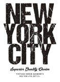 Tipografía Nueva York del vector Foto de archivo libre de regalías