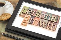 Tipografía personal del crecimiento en la tableta Fotografía de archivo
