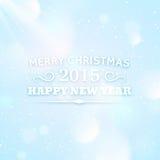 Tipografía por la Navidad y 2015 Años Nuevos Fotografía de archivo libre de regalías