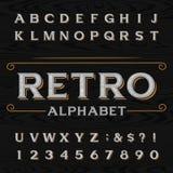 Tipografía retra apenada del vector Imágenes de archivo libres de regalías