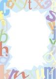 Tipografías coloreadas alrededor Imágenes de archivo libres de regalías
