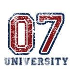 tipografia 'da universidade ', gráficos ostentando do t-shirt ilustração royalty free