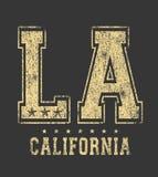 Tipografia 'do LA ', gráficos ostentando do t-shirt ilustração royalty free