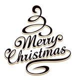 Tipografia alegre dos christmass ilustração do vetor