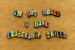 Tipografia autoritário da senhora das habilidades da liderança do feminismo foto de stock royalty free