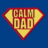 Tipografia calma della maglietta del papà, illustrazione di vettore Fotografia Stock Libera da Diritti