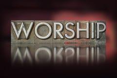 Tipografia da adoração Imagens de Stock Royalty Free