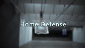 Tipografia da escala de acendimento da arma - defesa home filme
