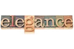 Tipografia da palavra da elegância Imagens de Stock