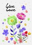 A tipografia das citações da parede e do assoalho vector flores para o t-shirt ou os outros usos, no vetor Foto de Stock Royalty Free