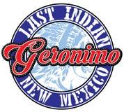 Tipografia de Geronimo do esporte atlético; gráficos do t-shirt; vetores Fotografia de Stock Royalty Free