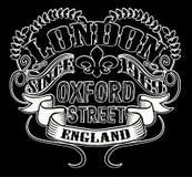 Tipografia de Londres, gráficos do t-shirt, vetores Fotos de Stock