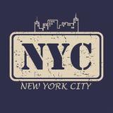 Tipografia de New York City para a roupa do projeto, t-shirt Ilustração do vetor ilustração royalty free