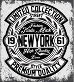 Tipografia de New York do vintage, gráficos do t-shirt, vetores Imagens de Stock Royalty Free