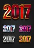 Tipografia de um vetor de 2017 anos Foto de Stock