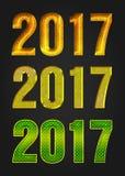 Tipografia de um vetor de 2017 anos Fotos de Stock