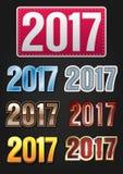 Tipografia de um vetor de 2017 anos Fotografia de Stock
