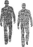 Tipografia del Mens di modo illustrazione vettoriale