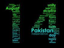 Tipografia della festa dell'indipendenza pakistana Fotografie Stock