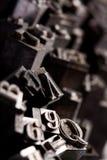 Tipografia della fonte tipografica del metallo Fotografia Stock