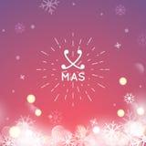 Tipografia di Buon Natale che segna retro progettazione con lettere Fotografie Stock