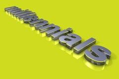 Tipografia di concetto 3D di Millenialsl Fotografie Stock