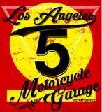 Tipografia di Los Angeles di sport atletico, grafici della maglietta, vettori illustrazione vettoriale