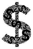 Tipografia di simbolo dei soldi Fotografia Stock