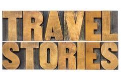 Tipografia di storie di viaggio Fotografia Stock Libera da Diritti