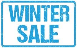 Tipografia di vendita di inverno isolata su bianco Imitazione del timbro di gomma illustrazione vettoriale