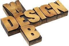 Tipografia di web design Fotografia Stock