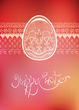 Tipografia disegnata a mano dell'uovo piega dell'ornamento di Pasqua Immagine Stock Libera da Diritti