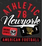 Tipografia do esporte de Bronx New York; gráficos do t-shirt; vetores Fotos de Stock Royalty Free